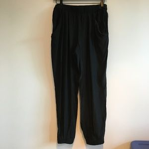 Anthropologie Silk cropped pants